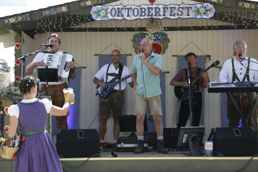 Direct from the Odenwald region of Germany to the El Cajon Oktoberfest is the five-member musical group Guggenbach-Baum.