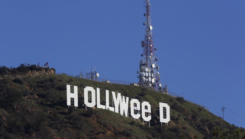 "Hollywood sign turns into ""Hollyweed"""