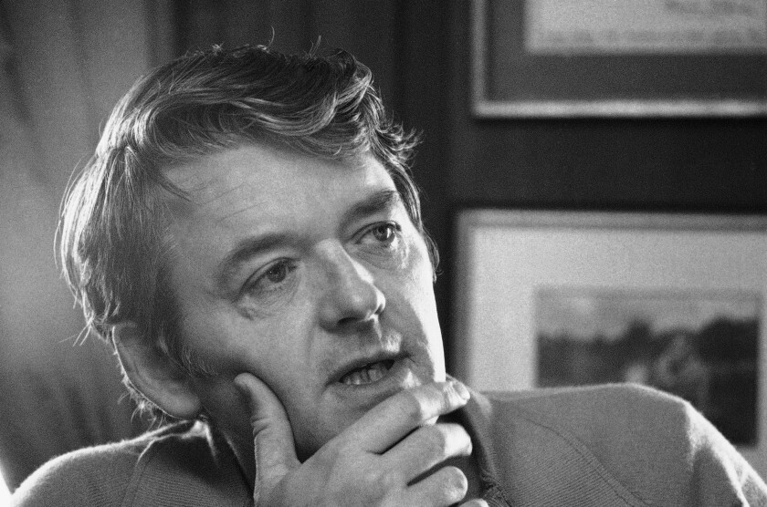 FILE - Actor Hal Holbrook appears during an interview in his New York apartment on Feb. 8, 1973. Holbrook died on Jan. 23 in Beverly Hills, California, his representative, Steve Rohr, told The Associated Press Tuesday. He was 95. (AP Photo/Jerry Mosey, File)
