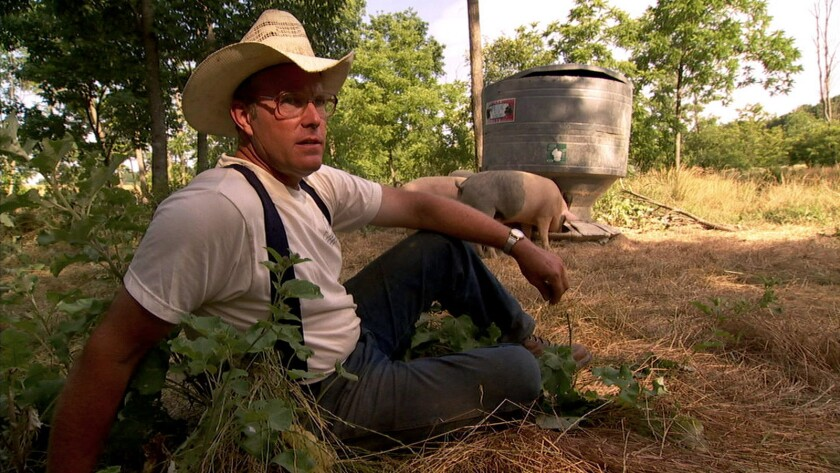 """Unconventional farmer and author Joel Salatin is one of the people interviewed in the 2008 documentary """"Food, Inc."""""""