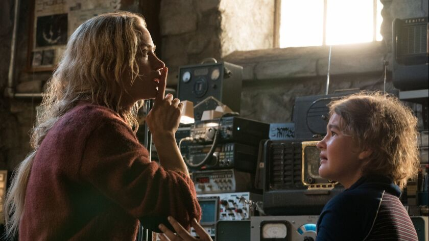 """Emily Blunt and Millicent Simmonds are a mother and daughter trying to survive in """"A Quiet Place."""""""