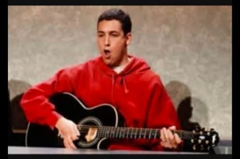 """Adam Sandler sang """"The Thanksgiving song"""" on Saturday Night Live in 1992."""