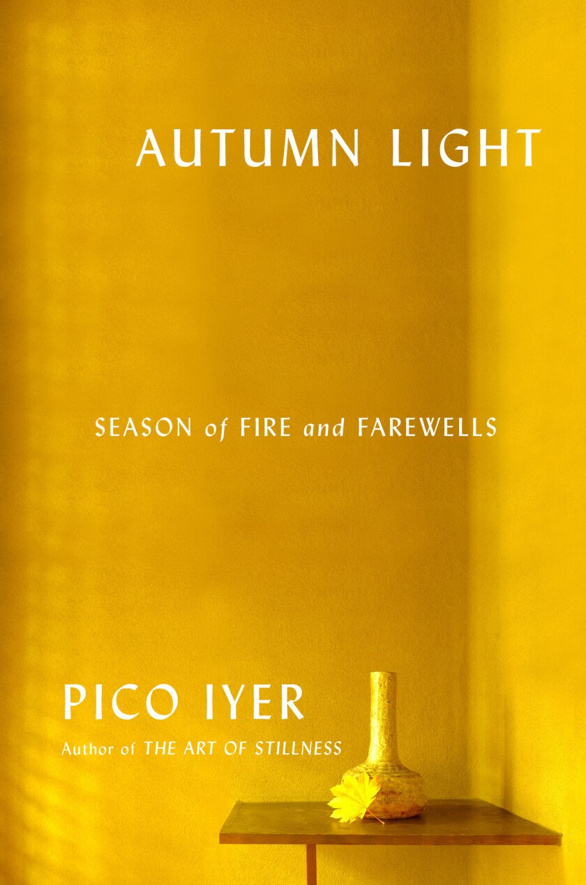 "A book jacket for Pico Lyer's ""Autumn Light."" Credit: Knopf"