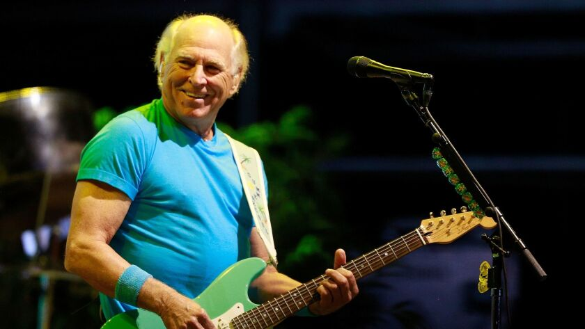 Jimmy Buffett, shown performing at KAABOO Del Mar on Sept. 16, will perform at Humphreys Concerts by the Bay in October for the first time in 32 years.