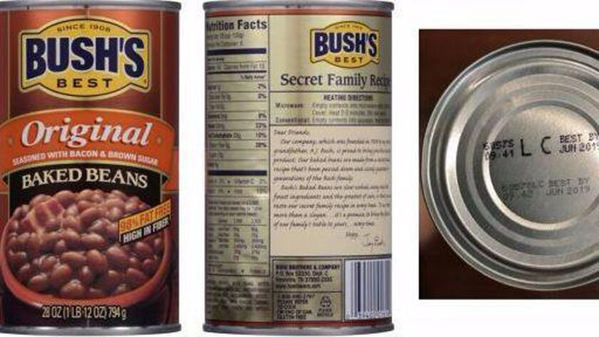 Bush S Baked Beans Recalled Because Of Defective Cans Los Angeles Times