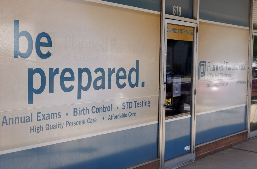 A Planned Parenthood clinic in Oklahoma City.