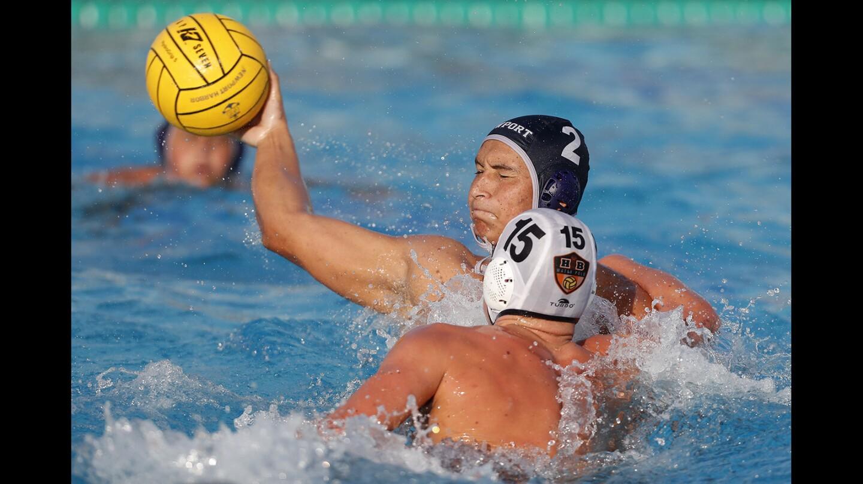 Newport Harbor vs. Huntington Beach in boys' water polo