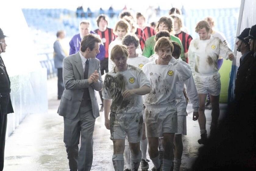"Michael Sheen, left, plays soccer Coach Brian Clough. It's written by Peter Morgan (""The Queen,"" ""Frost/Nixon"")."