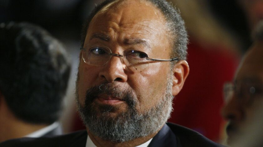 Richard Parsons, shown in 2009, stepped down Sunday night as interim chairman of CBS Corp. related to health complications.