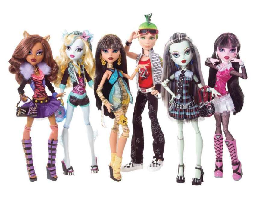 Mattel Profits Quadruple On Sales Of Monster High Dolls Los Angeles Times