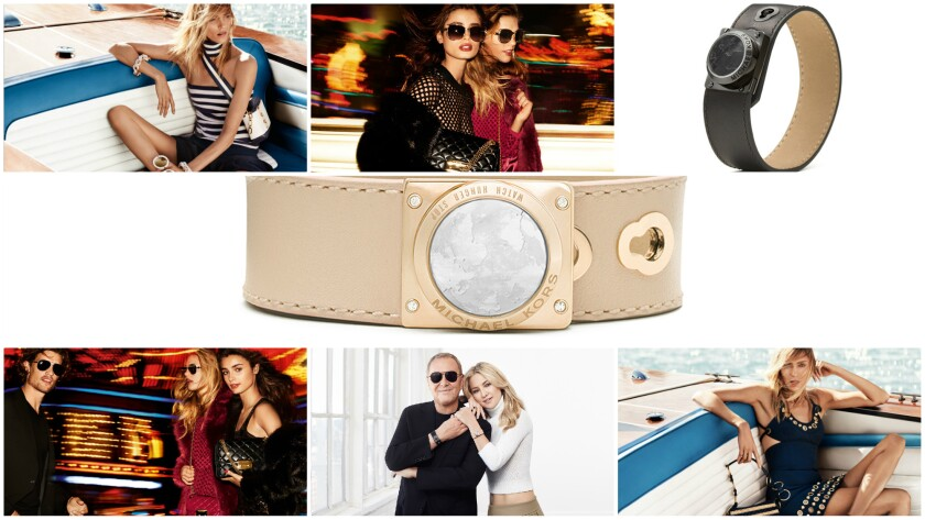 A look at photos of Michael Kors special-edition activity trackers, Michael Kors resort 2017 campaign featuring Anja Rubik, and  MICHAEL Michael Kors holiday '16 ad campaign.
