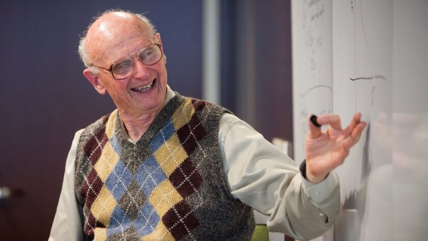 Nobel Prize winner Harry Markowitz is donating $4 million, and his medal in economics, to UC San Diego's Rady School of Management.