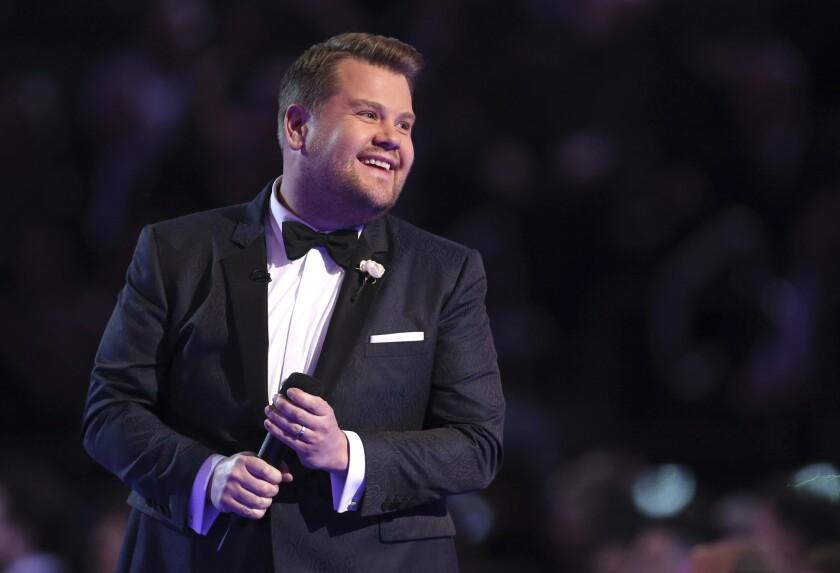 James Corden will host the Tony Awards on Sunday.