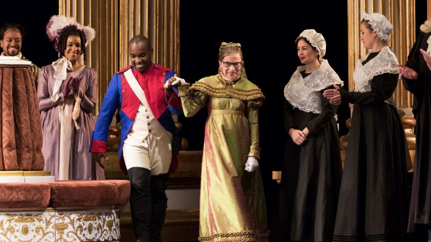 """The performance of """"The Daughter of the Regiment"""" marks Ginsburg's debut in an operatic speaking role."""