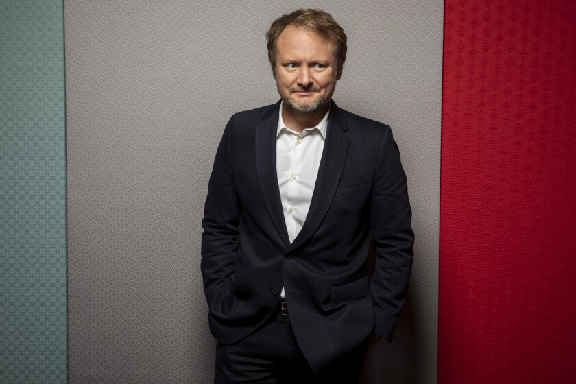 "Director Rian Johnson, from the film ""Knives Out,"" photographed in the L.A. Times Photo Studio at the Toronto International Film Festival, in Toronto, Ont., Canada on September 08, 2019."