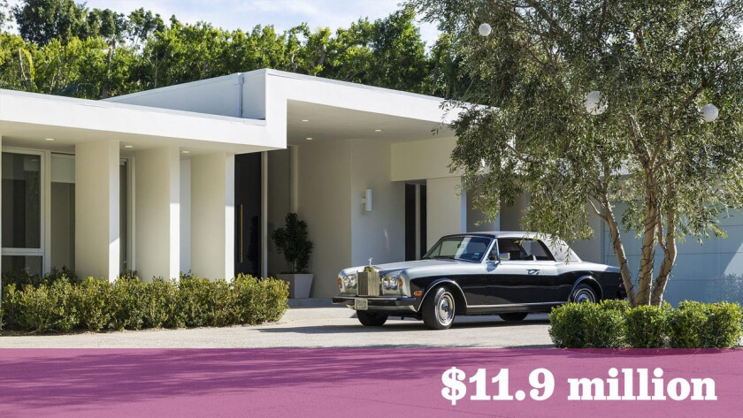 A reimagined Midcentury home in the Trousdale Esates area of Beverly Hills was among the top residential sales in the greater Los Angeles area last week.