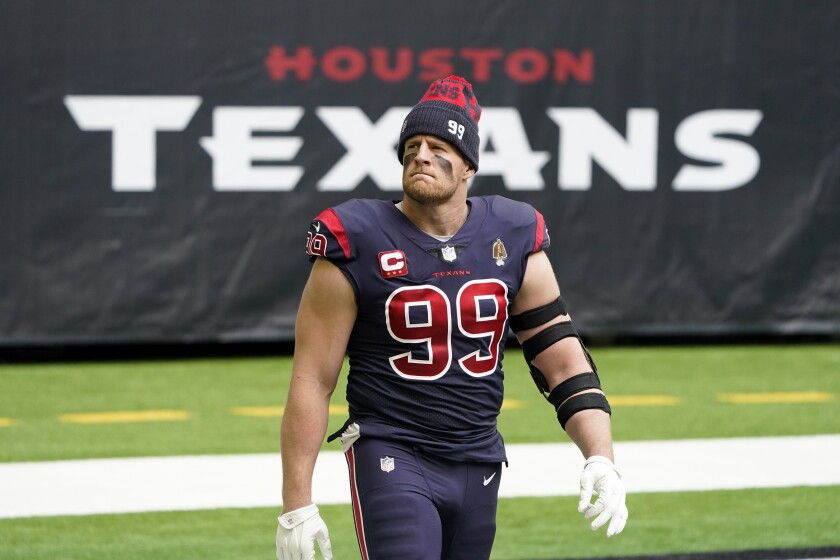 el defensive end de los Texans de Houston J.J. Watt