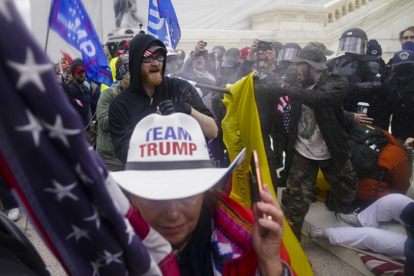 Rioters at U.S. Capitol on Jan. 6