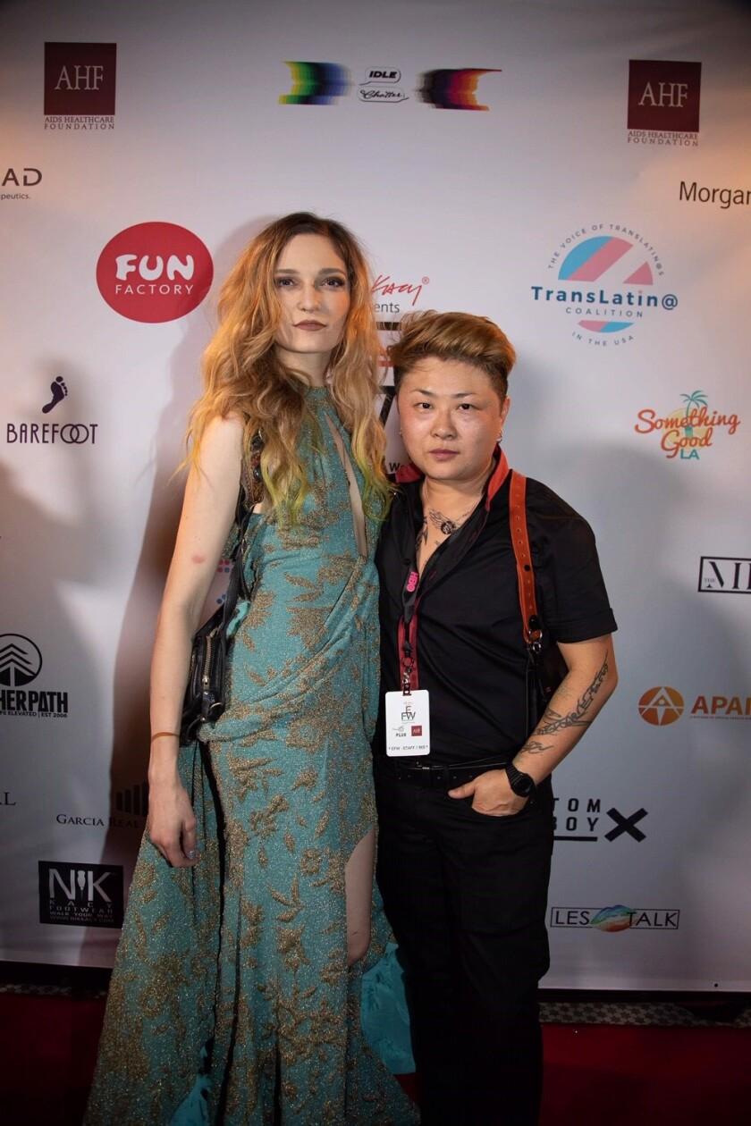 Allison K. Joseph and Nik Kacy at Unity: Equality Fashion Week