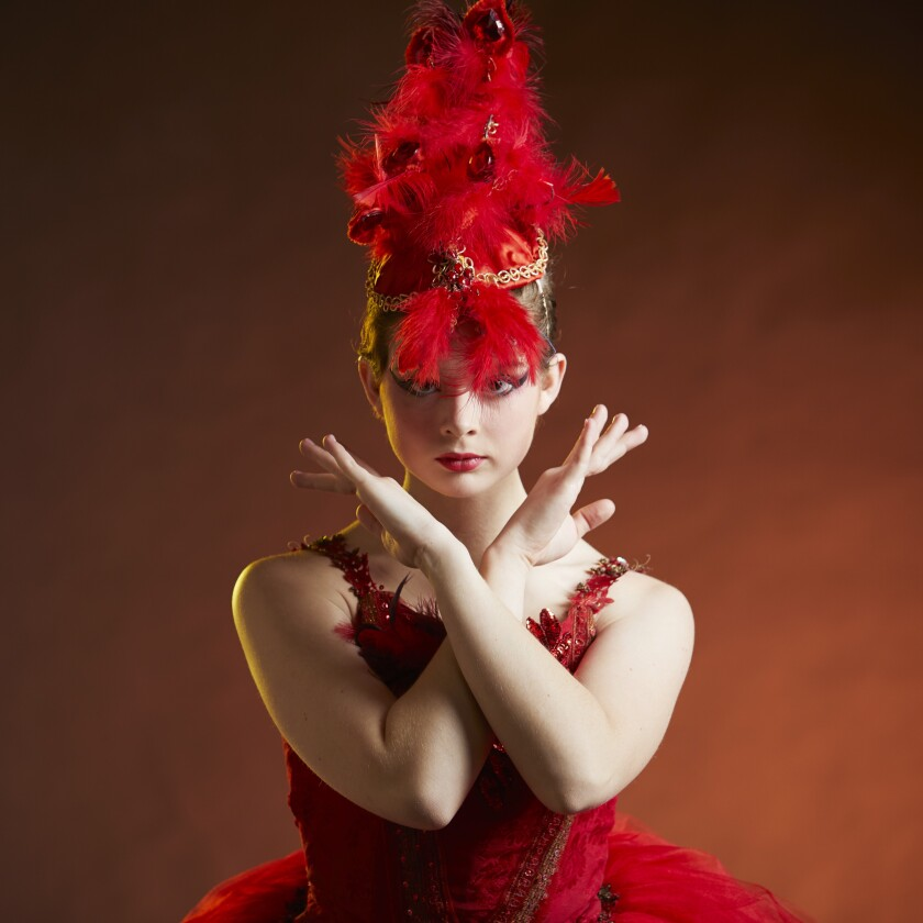 Georgia Morgan,16, performs as the Firebird in the San Diego Civic Youth Theatre's online production.