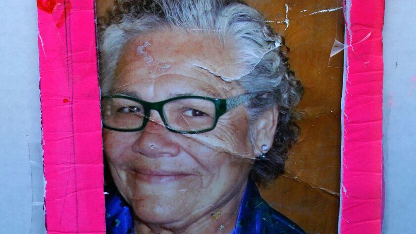 LOS ANGELES, CA-DECEMBER 27, 2017: A photograph shows Cynthia Szukala, 69, who was run over and kil
