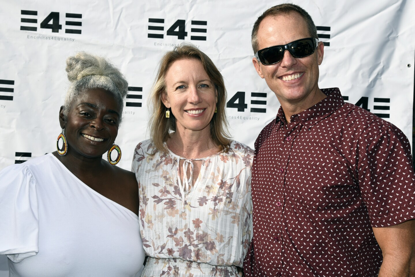 Multicultural Collective Store Manager/Business Panel member LaTonya Powell, Encinitas Mayor Catherine Blakespear and Jeremy Blakespear