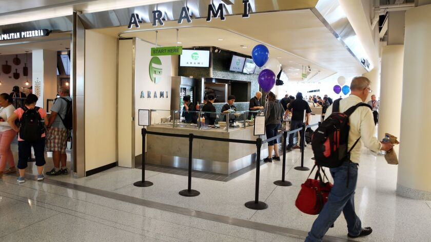 Arami, a sushi restaurant, has a large footprint in a new food court at Midway Airport in Chicago, shown July 30, 2018.