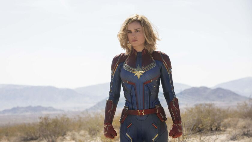 Captain Marvel (Brie Larson) in a scene from Marvel Studios' CAPTAIN MARVEL. Credit: Chuck Zlotnick/