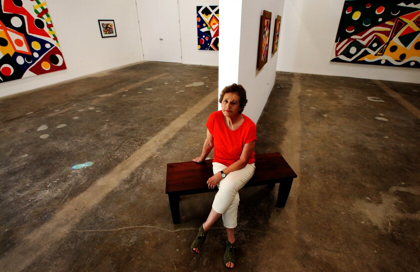 Rosamund Felsen at her new downtown space