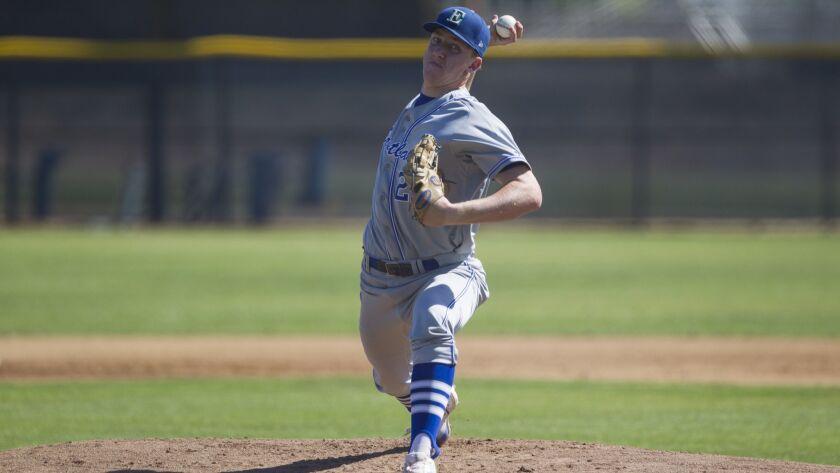 Eastlake starting pitcher Grant Holman delivers during the first inning against Granite Hills.