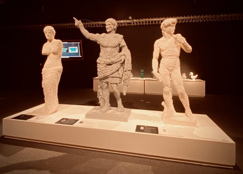 Nathan Sawaya's Lego duplicates of famous statues