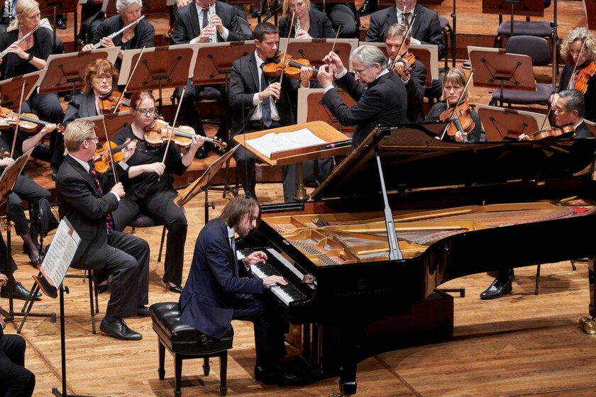 Daniil Trifonov performs with Michael Tilson Thomas conducting the San Francisco Symphony in September. The pair reteam with the L.A. Phil in a program that repeats this weekend.