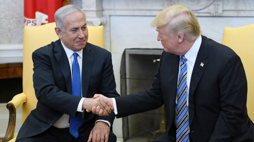 President Trump with Israeli Prime Minister Benjamin Netanyahu at the White House on March 5.