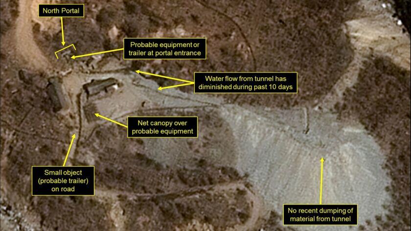 This satellite image released and notated by Airbus Defense & Space and 38 North on April 12, 2017,