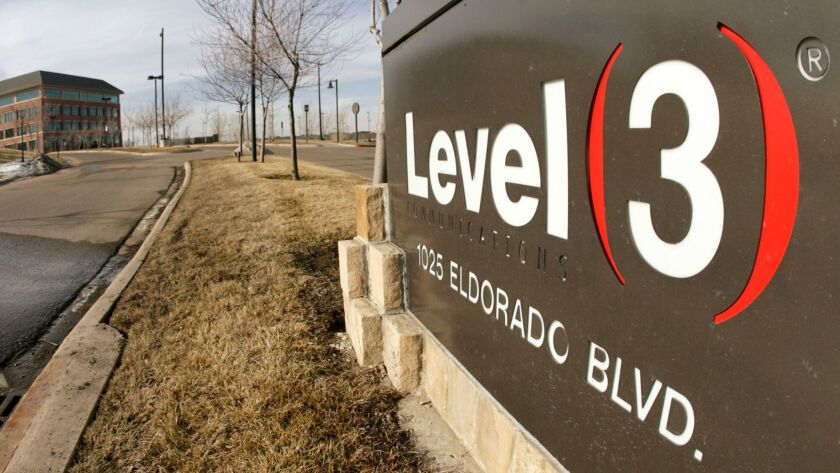 Level 3, based in Broomfield, Colo., provides data, video and other communication services to businesses and government agencies.