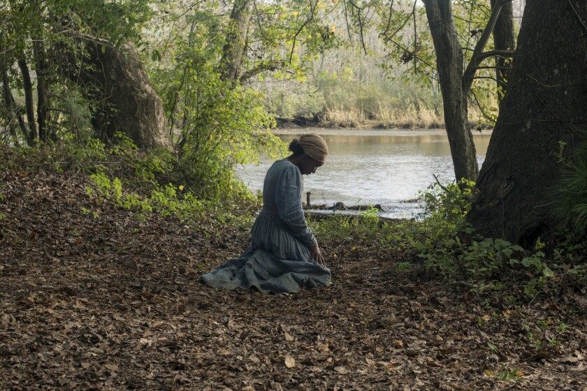 "Cynthia Erivo stars as Harriet Tubman in ""Harriet."""