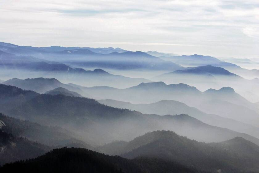 Giant Sequoia National Monument as seen from the air. The plan released Tuesday by the U.S. Forest Service is the agency's latest attempt at devising a blueprint for managing the 328,000-acre monument.