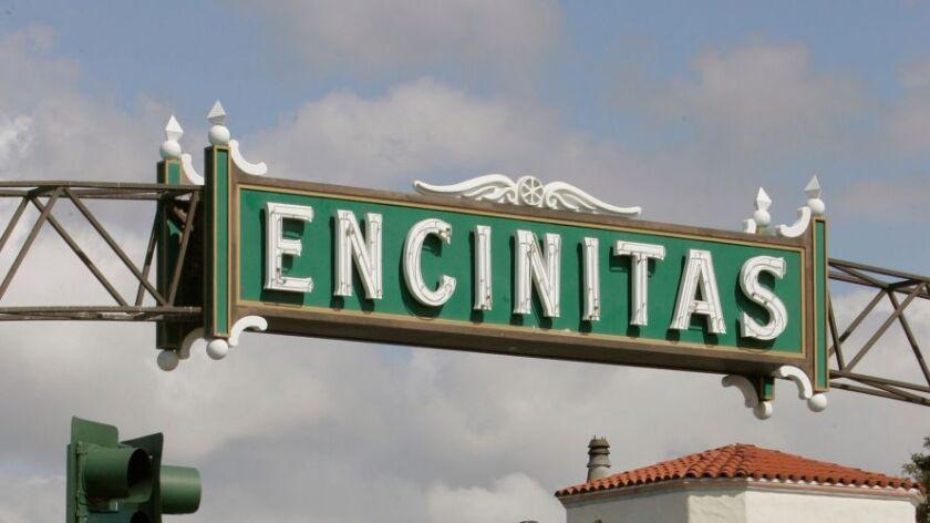 The downtown Encinitas sign.