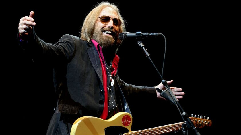 Tom Petty performs with the Heartbreakers at the Hollywood Bowl on the opening night of a three-night stand in 2017 that concluded the band's 40th-anniversary tour.