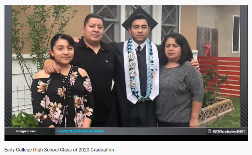 Early College High School graduate Kenny Ensastegui plans to study business at Cal State Fullerton in the fall.