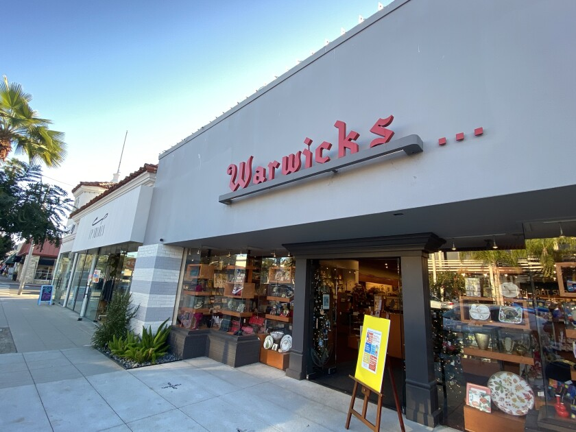 Warwick's bookstore in La Jolla has been at its current location at 7812 Girard Ave. since 1952.