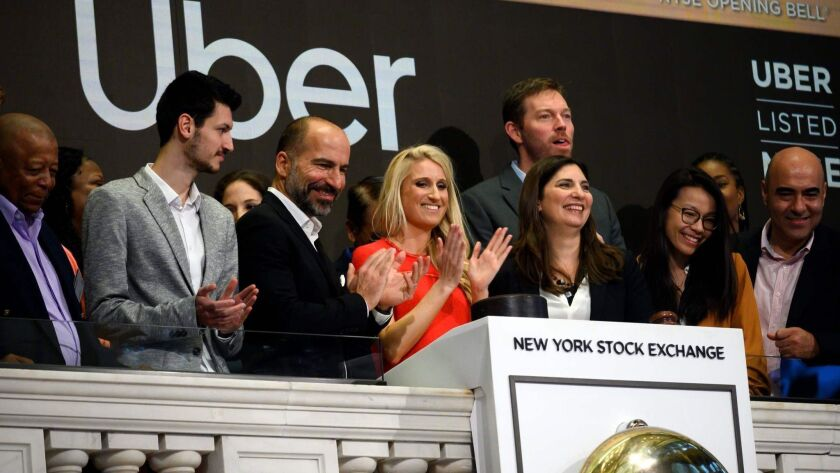 Uber IPO: Stock sinks more than 7% on first day of public trading