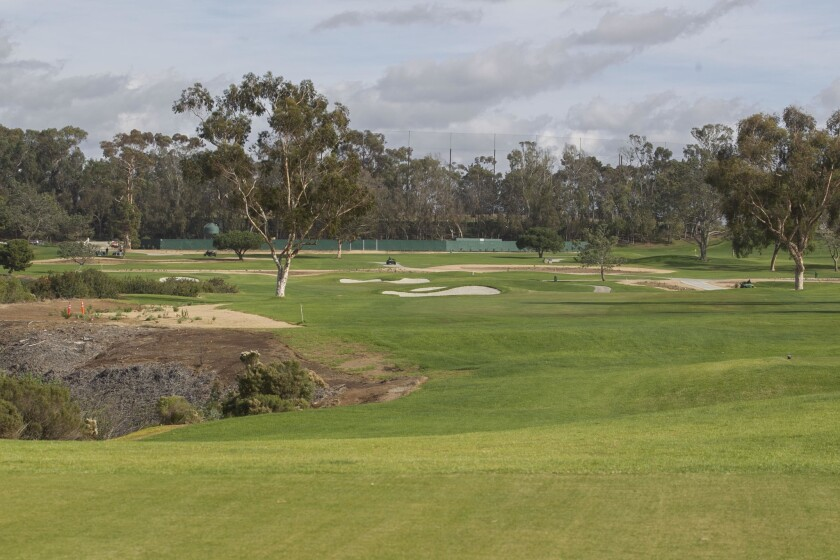 The old eighth hole at Torrey Pines North is now No. 17, a long par 5.