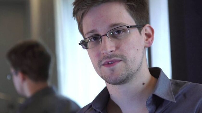 Edward Snowden during an interview in Hong Kong with reporters for the Guardian newspaper.