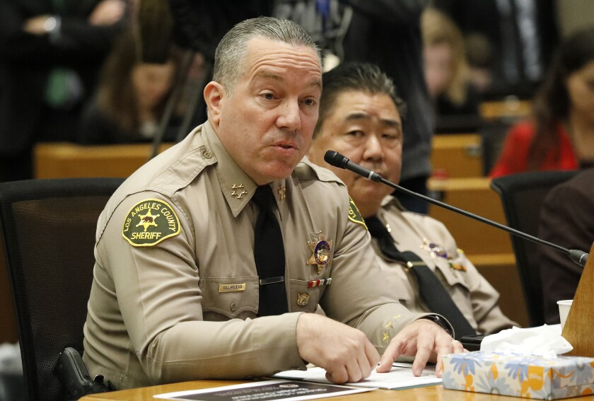 Los Angeles County Sheriff Alex Villanueva