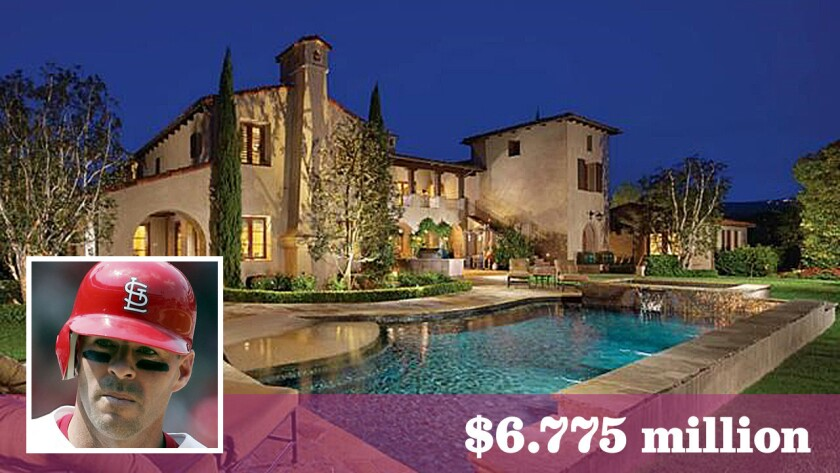 Former Angels slugger Jim Edmonds had asked as much as $7.999 million for the 10,000-square-foot home in Irvine's Shady Canyon.
