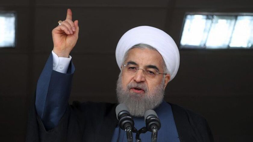 Iranian President Hassan Rouhani and his allies are playing down concerns over Donald Trump's rhetoric, while hard-liners feel vindicated by his threats to revise the nuclear deal with Iran.