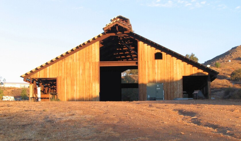 Improvements to commercial buildings, such as this barn at Edwards winery, could be taxed at a higher rate under Prop. 15.