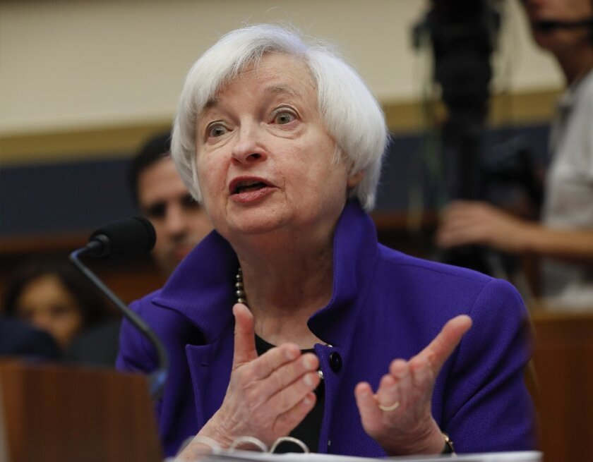 Federal Reserve Chair Janet L. Yellen testifies at hearing on Capitol Hill in September.