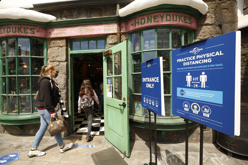 Universal Studios Hollywood welcomed guests back to the theme park in April.